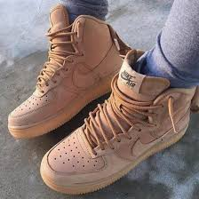 shoes nike nike shoes nike air force 1 beige sneakers nike sneakers suede brown leather boots