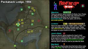 the 13th the game full maps with all objective location spawns Does Every House Have A Fuse Box friday the 13th the game full maps with all objective location spawns