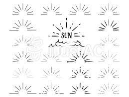 シンプル太陽素材セット黒イラスト No 1097795無料イラストなら