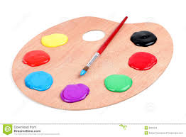 paint palette isolated tools