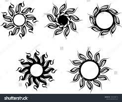 Tribal Tattoo Sun Design Vector Art Stock Vector Royalty Free