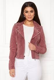 Light Old Rose Dress Vero Moda Royce Short Suede Jacket Old Rose Bubbleroom