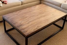 topic to metal frame round wood studio coffee table