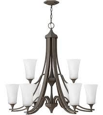 hinkley 4638oz wh brantley 9 light 33 inch oil rubbed bronze foyer chandelier ceiling light