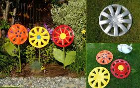 garden art projects. Hubcap Garden Art: Art Projects