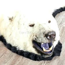 polar bear rug plus polar bear rug lion head pelt fake skin with polar bear rug