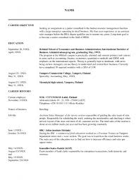 Hr Resume Objective Resume Templates