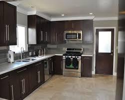 brown l shaped kitchen design