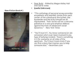 non fiction book dear bully edited by megan kelley hall and  non fiction book 1 dear bully edited by megan kelley hall and carrie
