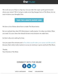 Request Emails Sample 4 Ways To Send Better Survey Invitation Emails Email Design Workshop