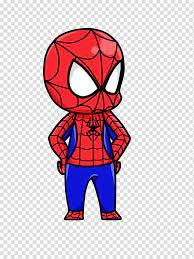 coloring spiderman cartoon drawing