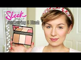 how to contour with sleek face form contouring blush palette