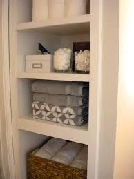 linen closet shelving bathroom