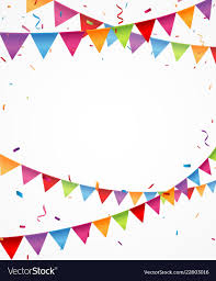 Designer Bunting Celebration Background With Bunting Flags