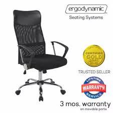 office chair upholstery. Ergodynamic EHC-77P High Back Mesh Upholstery Office Chair (Black)