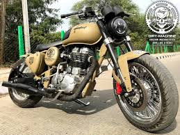 this modified royal enfield clic 500