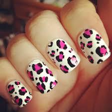 Rivière De Coco: Nail Art - White and Pink Matte Leopard Print