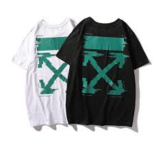 <b>19SS New Pattern</b> Green Arrow <b>Letter</b> Printing Short Sleeve T T ...