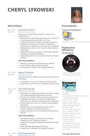 classroom teacher resume samples student teacher resume samples