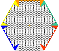 The board consists of 655 hexagonal spaces assembled into an extended  hexagon.