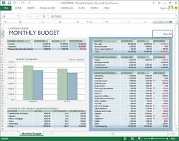 excel template monthly budget 7 useful templates for making budget sheets in office 2013