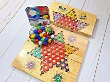 Wooden Game With Marbles Wooden Handmade Chinese Checkers Game With Marbles Mahogany 70