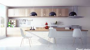 White Floor Tile Kitchen Kitchen Kitchen Modern Design Kitchen With White Wall Decor