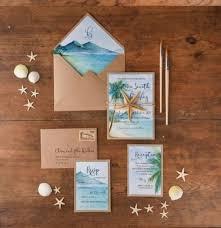 beach wedding card destination wedding invitation