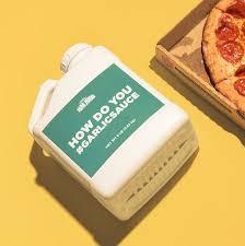 garlic sauce in one gallon jugs