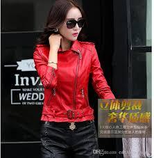 woman shearling jackets women leather jacket slim las leather motorcycle jacket women zipper short jacket plus size 4xl with 62 86 piece on