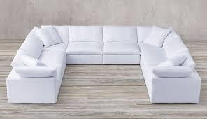 feather extra deep fabric u shape sofa