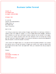 4th Business Letter Format About Shipment