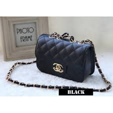 chanel inspired bags. [ready stock] cute girl chanel inspired handbag bag | sling #1168 bags