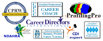 logos for Career Directors International, Profiling Pro, CDI Expert, Professional  Association of Resume