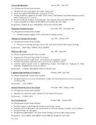 Cobol Programmer Resume Mainframe Resume Cobol Programmer Resume