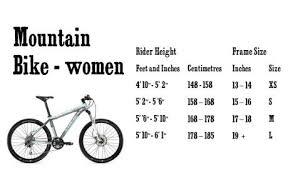 Mountainbike Chart For Women Bmx Bikes 20 Bmx Bike