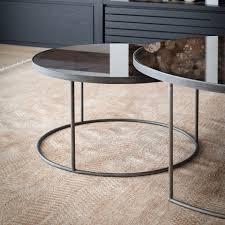 round nesting coffee table bronze image 1