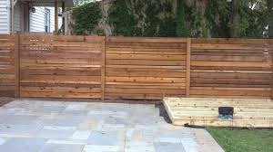 white horizontal wood fence. Horizontal Wood Fence Designs Spaced Cedar Customer White