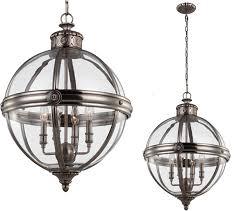 elstead feiss adams 4 light pendant chandelier antique nickel fe adams 4p