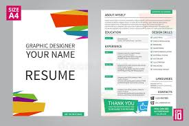 resume for graphic designers resume graphic designer stock vector illustration of hiring 71102879