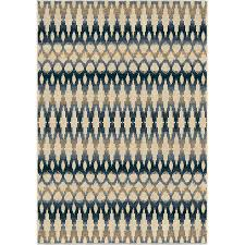 orian rugs vibrant ikat ivory indoor outdoor southwestern area rug common 5 x