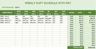 Business Schedule Template 15 Employee Shift Schedule Template Template Format