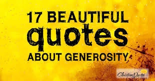 Christian Generosity Quotes