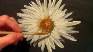 how to paint a daisy with acrylic paint easy step by step tutorial you
