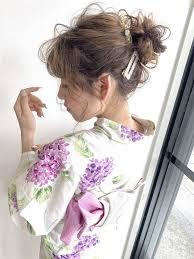 お団子浴衣アレンジ アレンジセット2doニド浜松の美容院ヘア