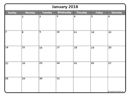 calendar january 2018 template january 2018 calendar template yearly printable calendar