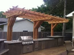 Cantilever Pergola Design Ideas Pictures Outdoor Kitchen With Cantilever Pergola Pergola Backyard