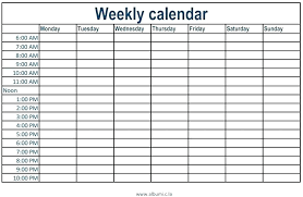 Free Weekly Schedule Template Excel Weekly Time Calendar Template Planner With Time Slots Weekly