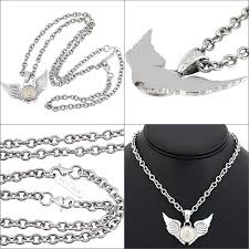 police necklace wing pendant men police double wings 20733psg02