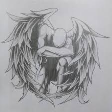 Angel Sketch Pencil Sketch Fallen Angel